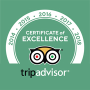 Trip Advisor Certification of Excellence Badge 2014-2019