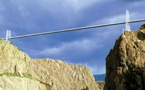 Royal Gorge Bridge - view from gorge Colorado Jeep Tours
