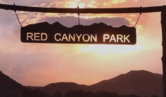 Red Canyon Park has beautiful views of sunsets