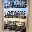 funny horse riding sign