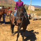 young girl on horse during Colorado Jeep Tours