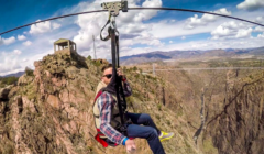 Cloudscraper Zipline 1 Colorado Jeep Tours