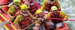 Laughing Family whitewater rafting CO Jeep Tours
