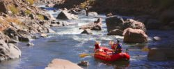 whitewater rafting close up CO Jeep Tours