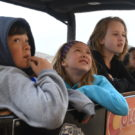 children looking at views during Colorado Jeep Tour ride
