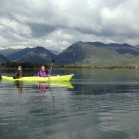 two people in kayak enjoying Colorado Lake