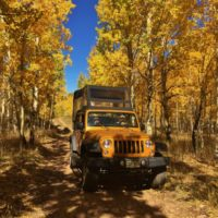 Colorado Jeep Tours driving through Aspen lane load
