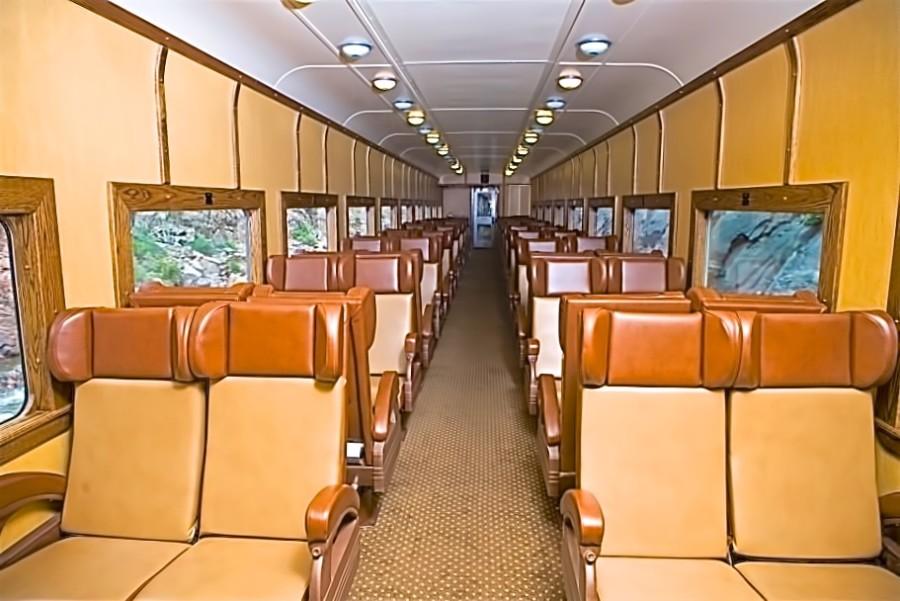 ... Royal Gorge train seats in coach ...