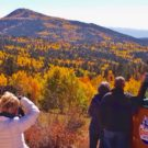 Colorado jeep tour guests enjoying the fall colors