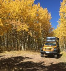Fall Colorado jeep tour in Cripple creek