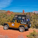 Guests experiencing Red Canyon in Jeep Colorado Jeep Tours