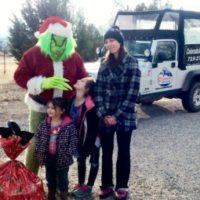 Grinch, kids and mom taking a Colorado Jeep Tour