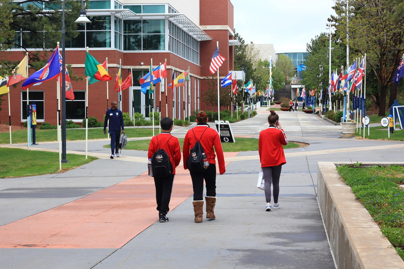 Athletes walking at the Olympic Training Center in Colorado Springs