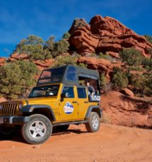 Colorado jeep tour in Red Canyon