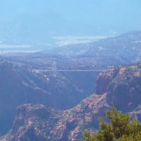 view of Royal Gorge Bridge after fire Colorado Jeep Tours