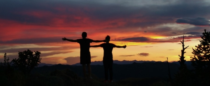 man and woman silhouette during sunset Colorado Jeep Tours