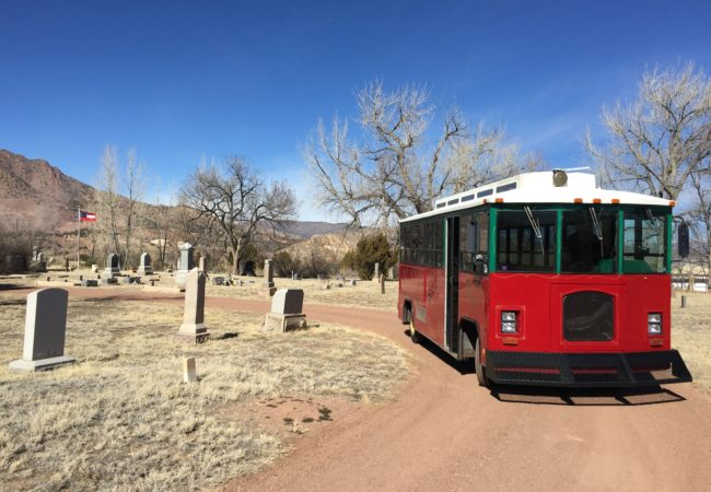 Trolley at Greenwood Cemetery