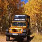 Colorado Jeep Tour during gold belt tour with yellow Aspen trees